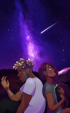 Cover illustration for Saturn Rising, Book One: Aquarius